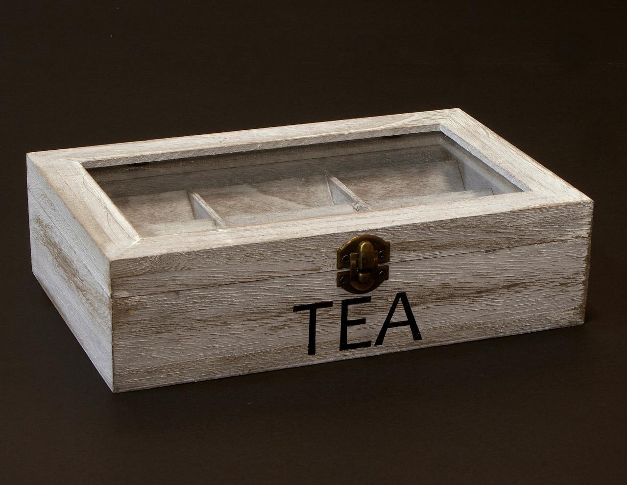 Skrzyneczka drewniana pudelko na herbate pojemna