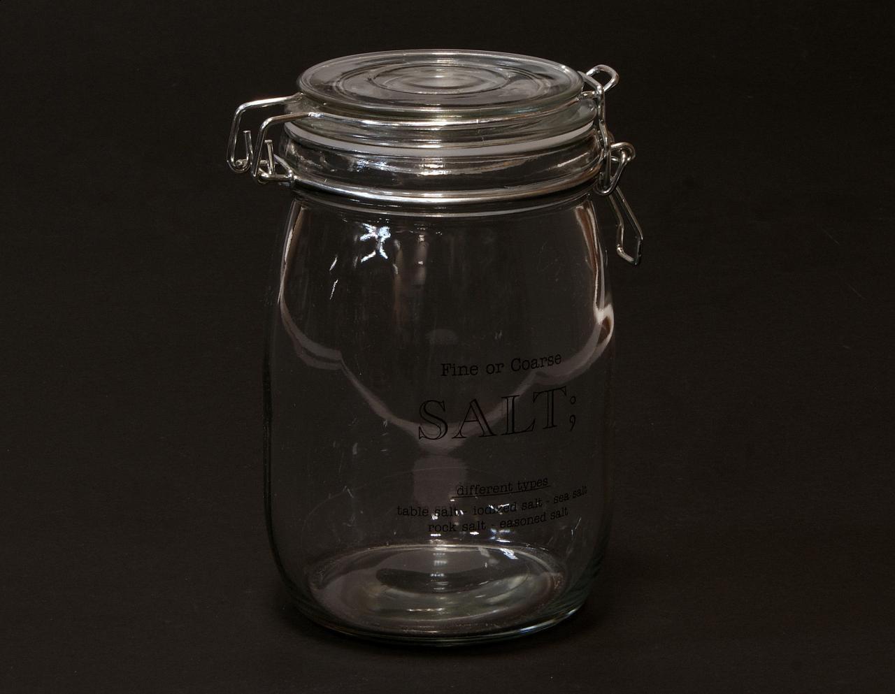 Sloik na sol transparentny metalowe zamkniecie