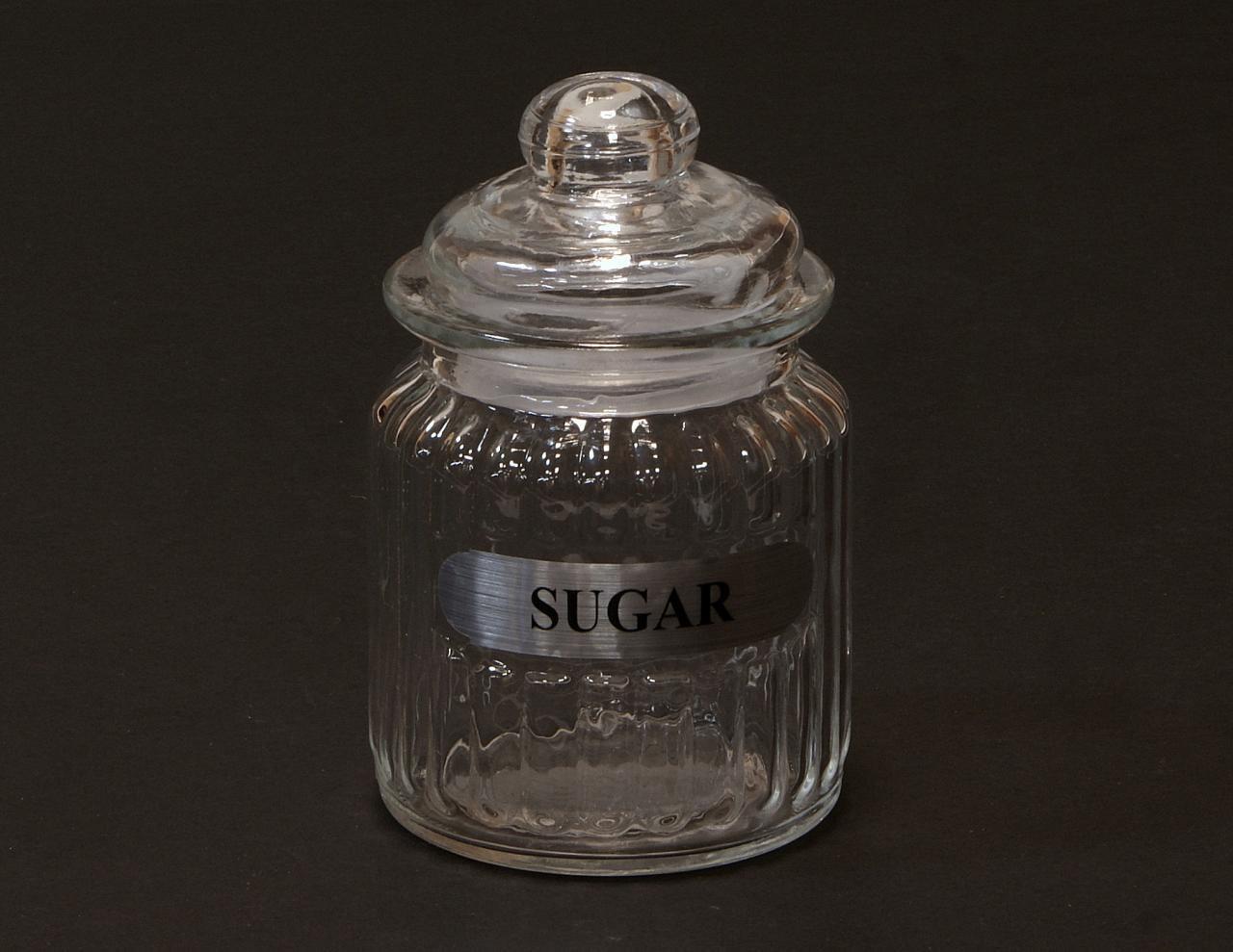 Sloik sloiczek transparentny na cukier