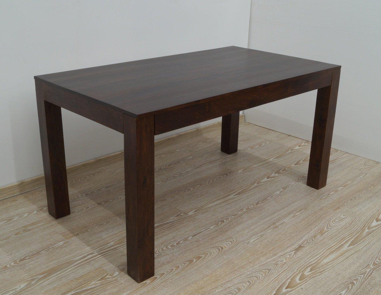 Stół kolonialny lite drewno palisander indyjski ciemnobrązowy