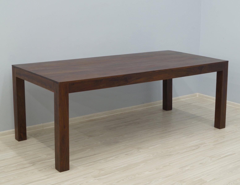 Stół kolonialny lite drewno palisander indyjski ciemnobrązowy duży