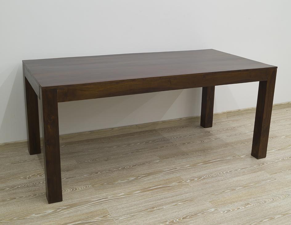 Stół kolonialny lite drewno palisander indyjski ciemny brąz