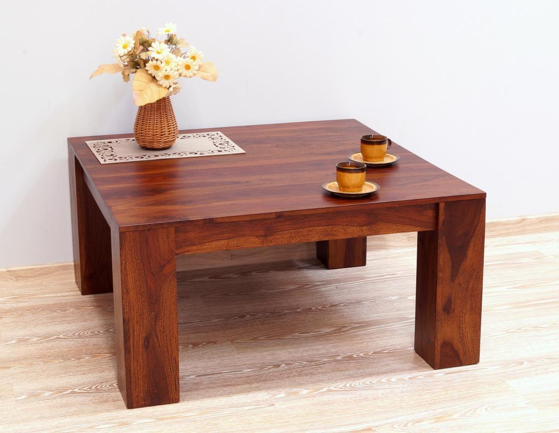 Stolik kawowy indyjski lite drewno palisander ciemnobrązowy nowoczesny