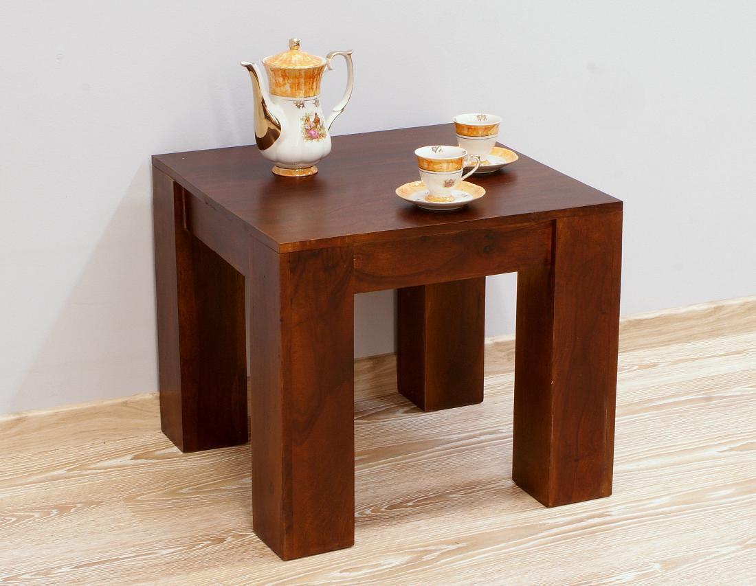 Stolik kawowy indyjski lite drewno palisander ciemny brąz modernistyczny