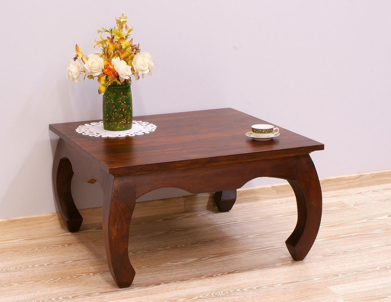 Stolik kawowy indyjski lite drewno palisander nogi styl opium