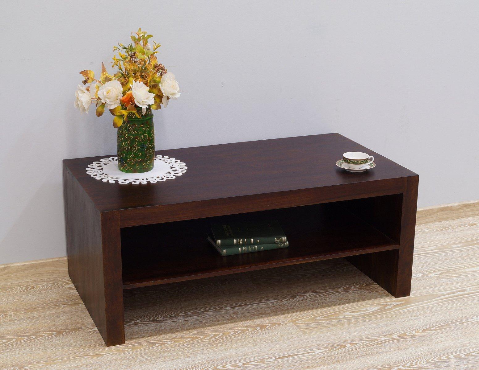 Stolik kawowy kolonialny lite drewno palisander ciemnobrązowy nowoczesny
