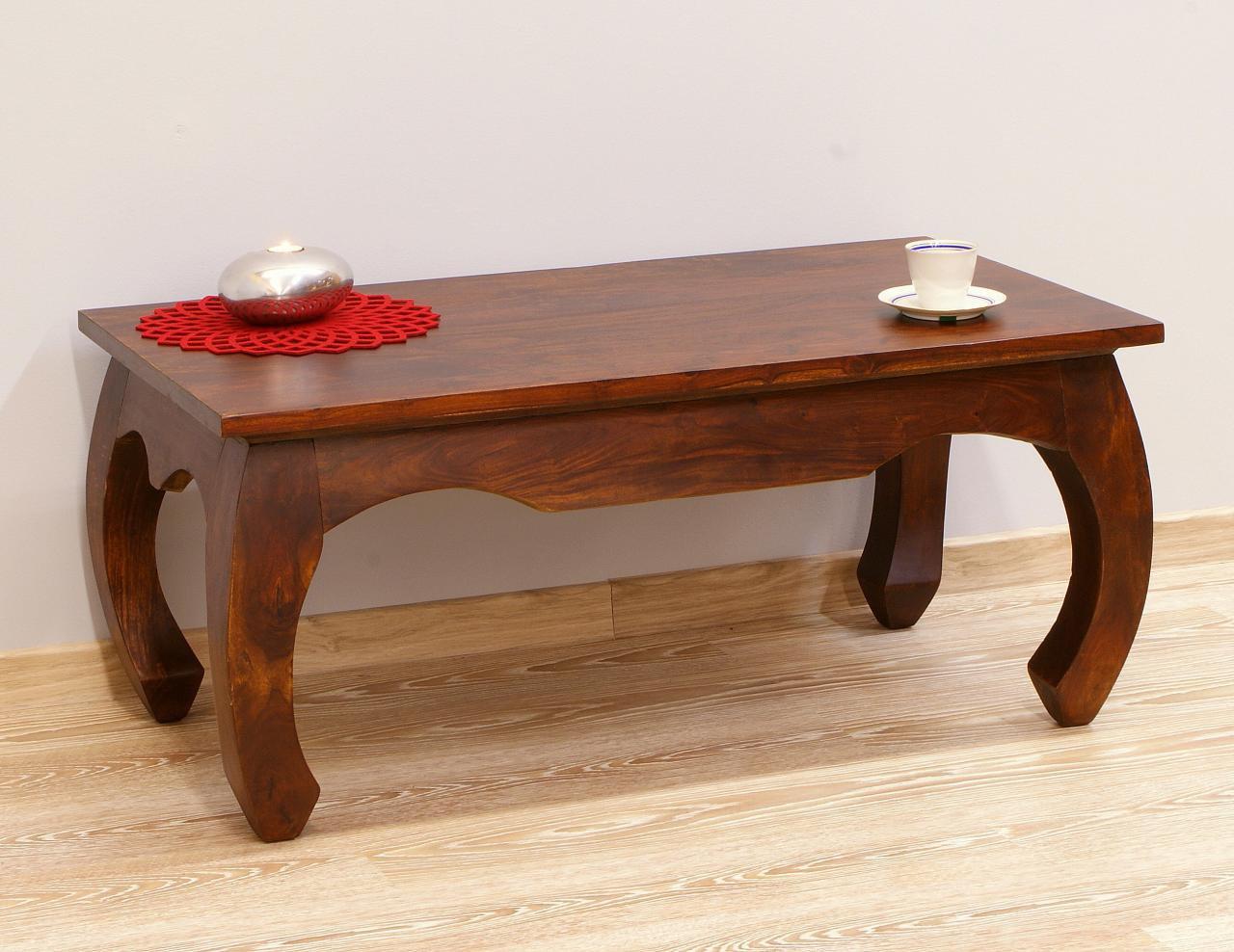 Stolik kawowy kolonialny lite drewno palisander indyjski nogi styl opium klasyczny