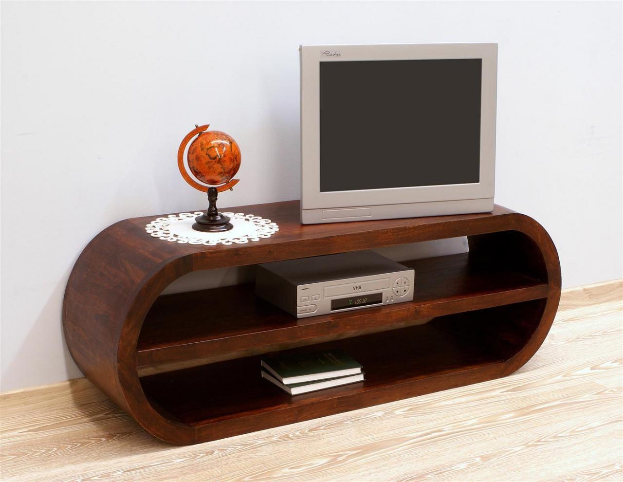 Szafka pod telewizor komoda RTV kolonialna lite drewno palisander indyjski styl nowoczesny ciemny brąz