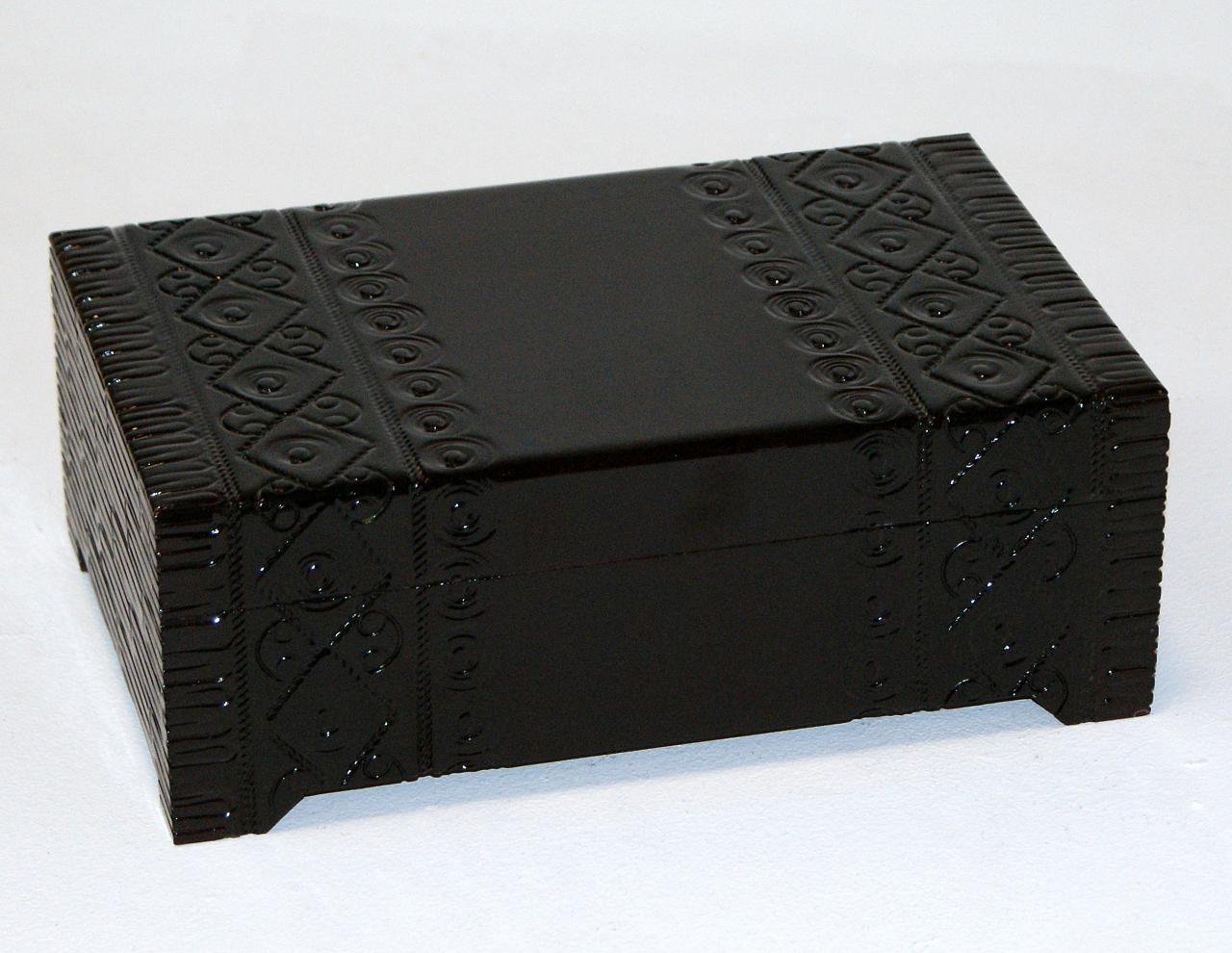 Szkatułka drewniana z lusterkiem orientalna