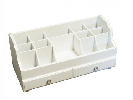 Szkatułka na biżuterię biała organizer z szufladką