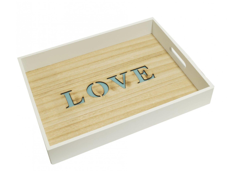Taca do serwowania napis LOVE