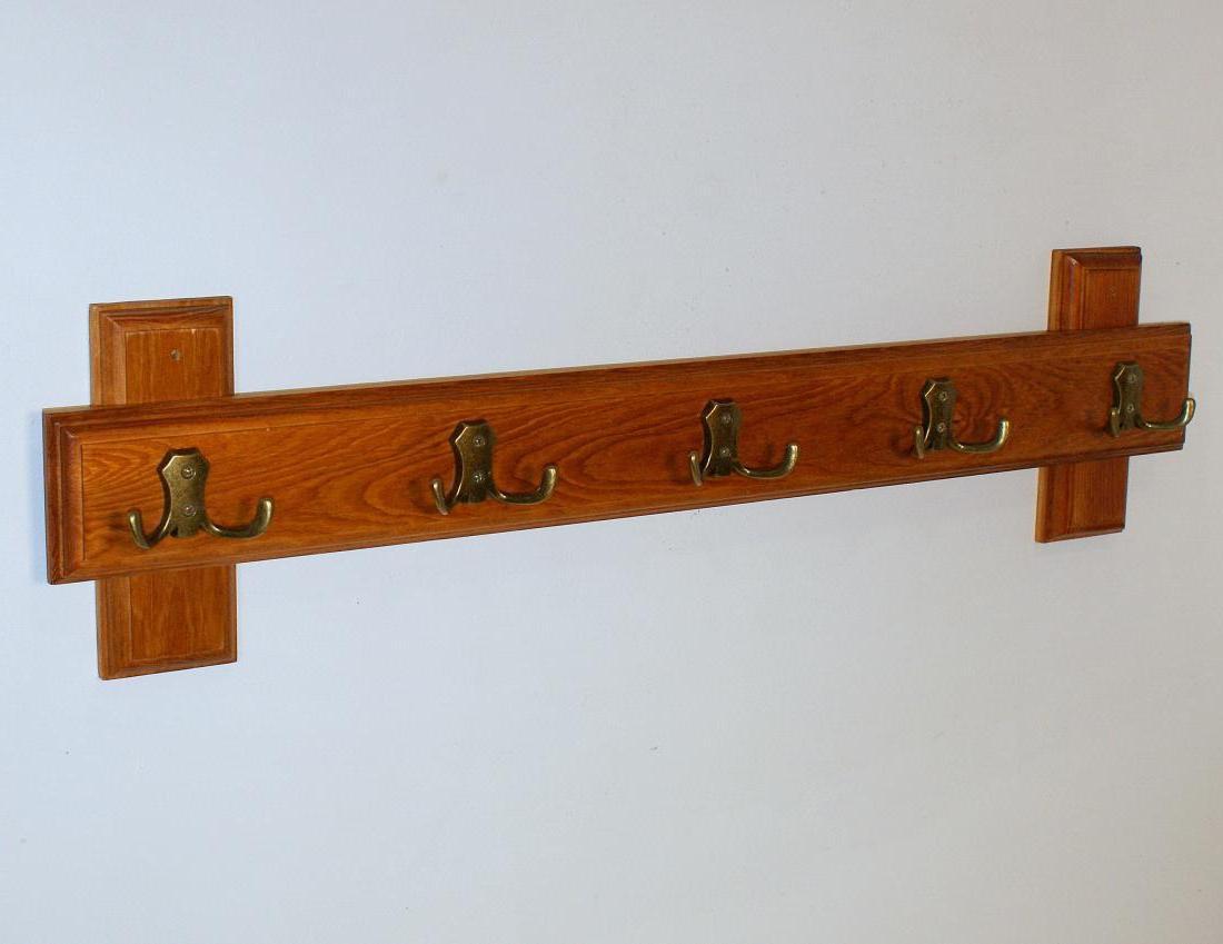 Wieszak ścienny drewniany 5 podwójnych haków