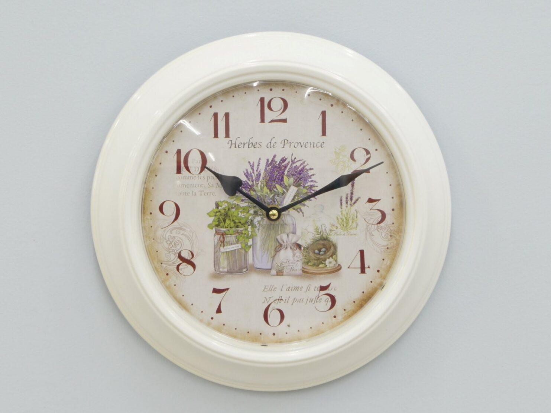 Zegar ścienny biały styl prowansalski Vintage