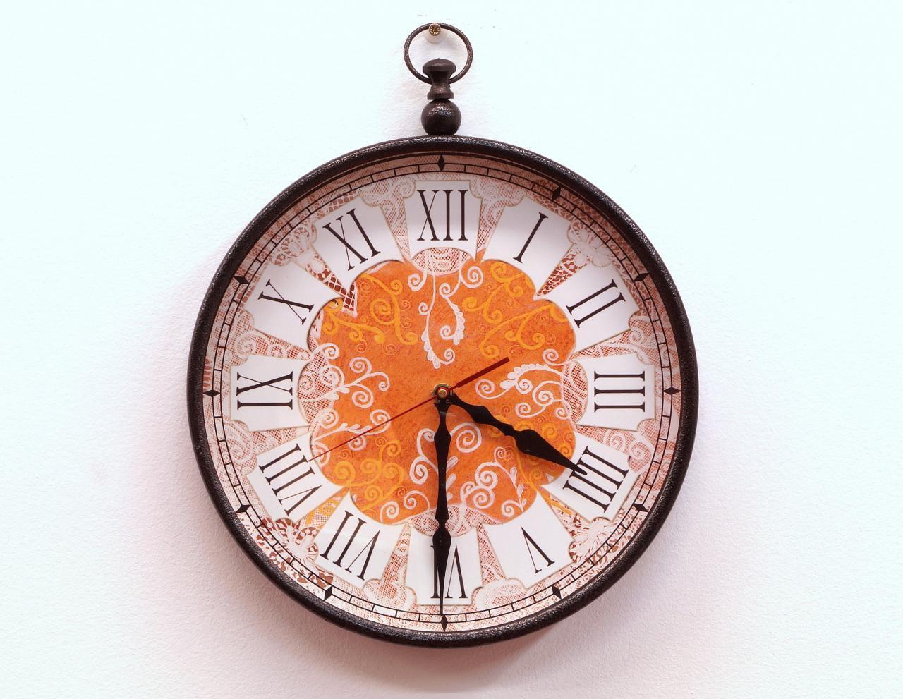 Zegar ścienny cyfry rzymskie dekoracyjny orientalny