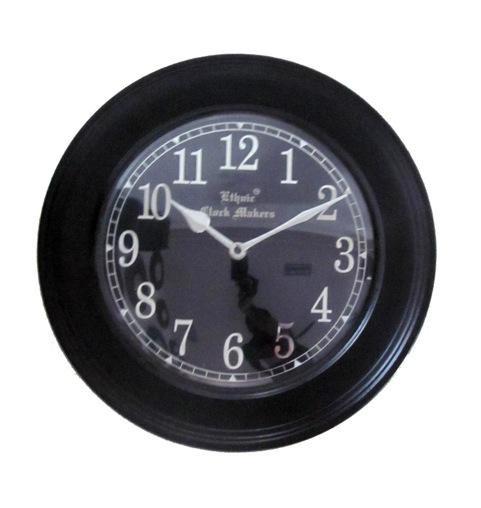 Zegar ścienny czarny styl Retro