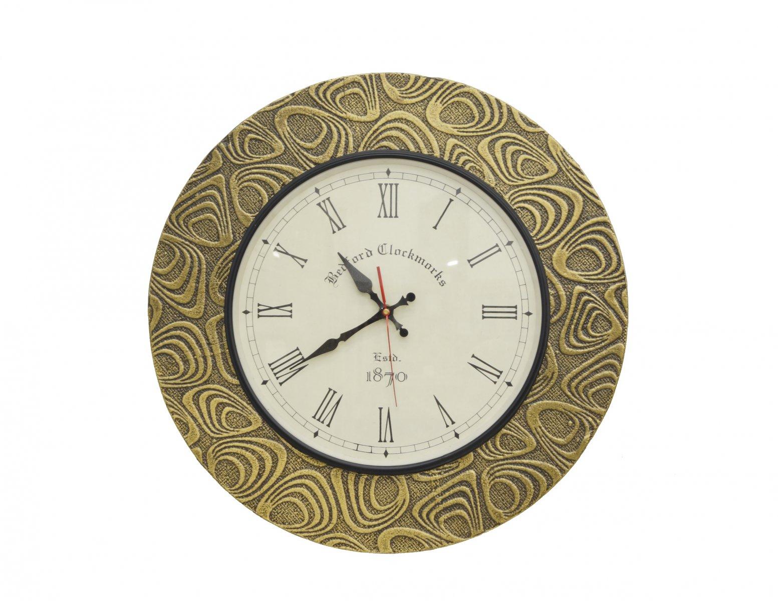 Zegar ścienny rzymskie cyfry złoty kolor