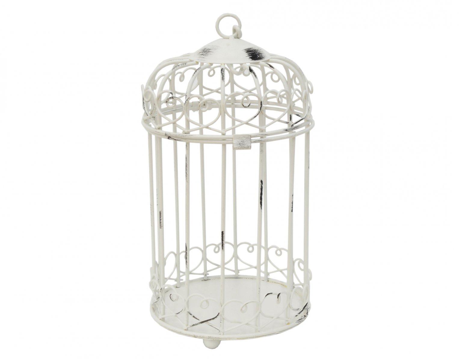 swiecznik metalowy klatka dla ptaszka wiszacy