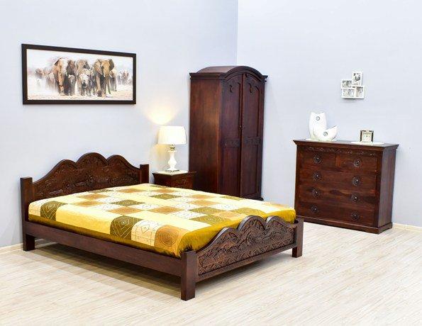 Kolekcja mebli drewnianych kolonialnych rzeźbionych CARVED