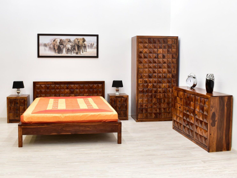 Kolekcja Diamond z litego drewna palisandru indyjskiego