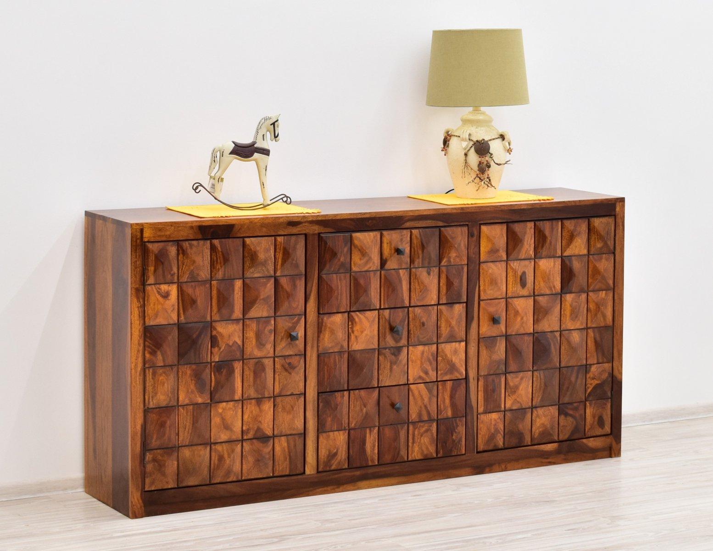 Komoda indyjska lite drewno palisander miodowy brąz masywna pojemna