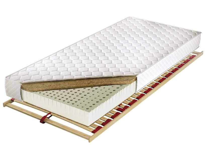 Materac lateksowy o 7 zróżnicowanych strefach twardości Zeus Lux 160 x 200 cm