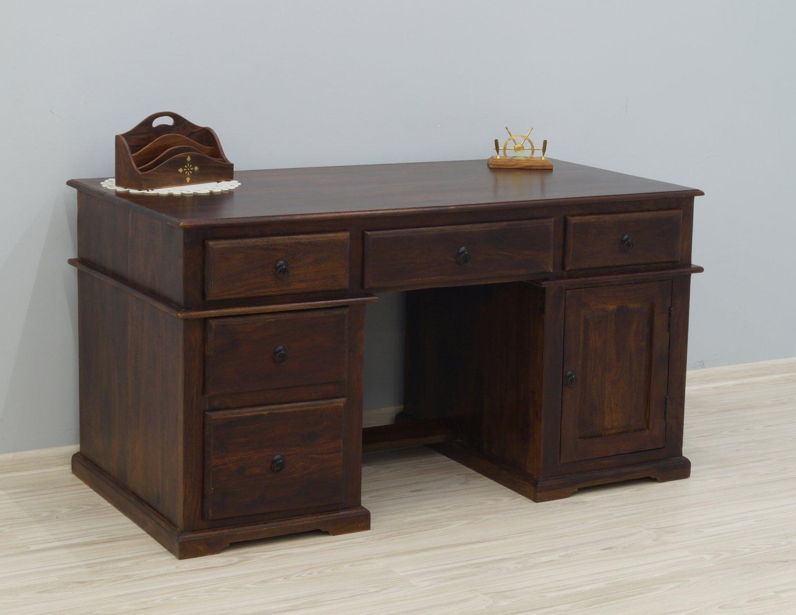 biurka kolonialne indyjskie masywne egzotyczne