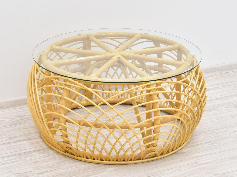 stolik lawa z szyba rattan miód (1)