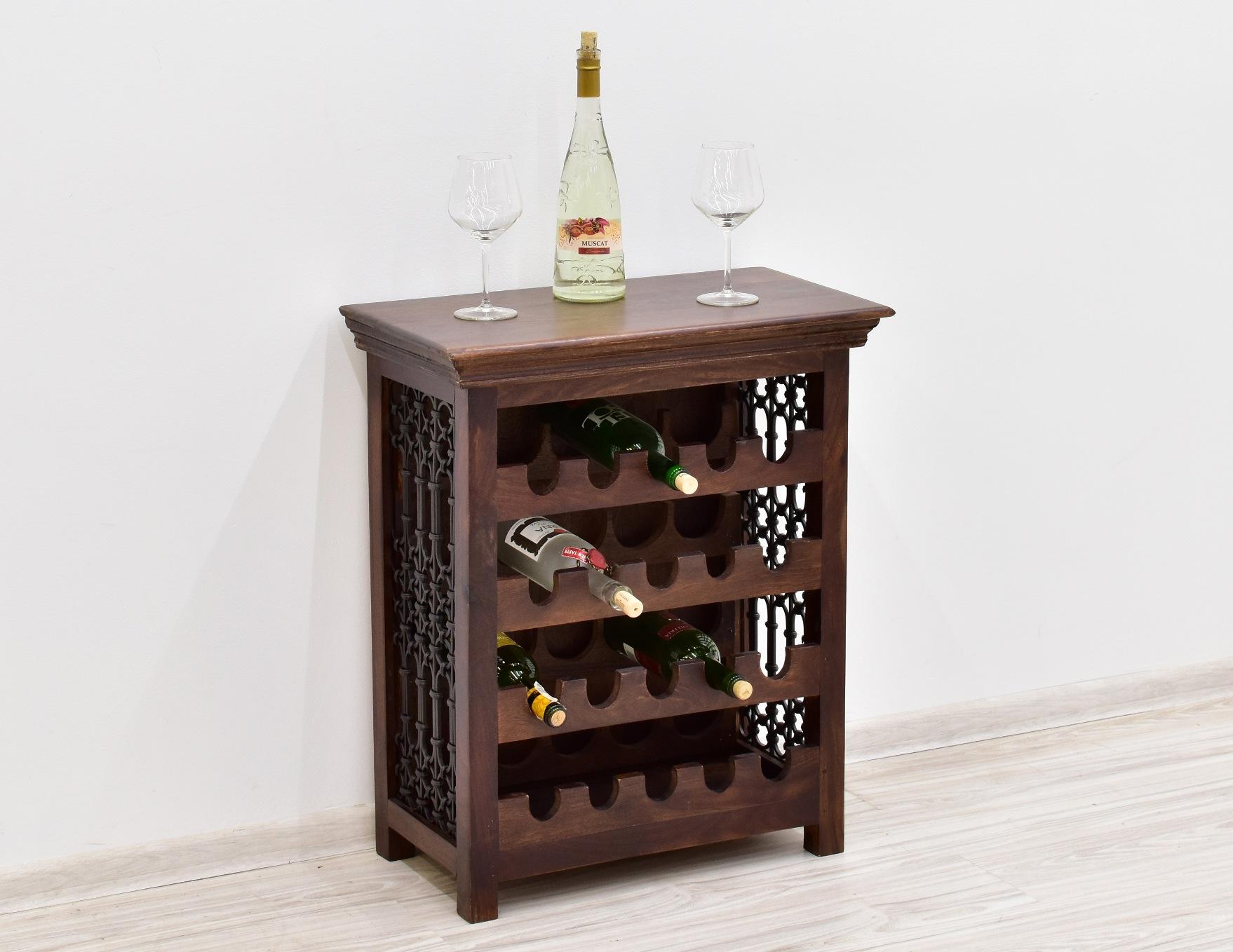 szafka na wino drewno palisander metaloplastyka (1)